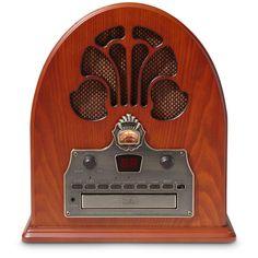 Radio AM/FM com CD Player Retrô Cathedral Crosley -Eletrônicos - Som portátil - Walmart.com