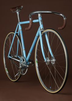 Blue & brown leather Vanilla Bicycle, custom built, handcrafted   #portland #oregon #bike