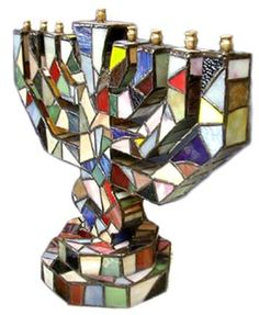 I wish my Mother in law was still making stained glass items...Max Bond Hand Crafter Menorah
