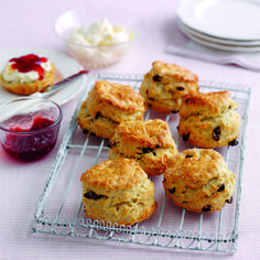 Mary Berry's fruity scones are perfect served split open with plenty of jam and cream in them for a really indulgent afternoon tea treat