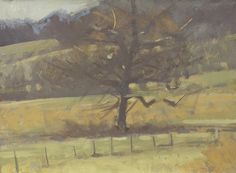 "©Frank Hobbs: ""Autumn, Oak,"" casein on rag paper, 11 x 14 in."