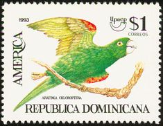 Hispaniolan Parakeet stamps - mainly images - gallery format