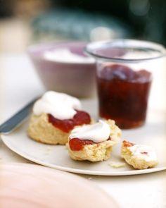 Cream Scones - Martha Stewart Recipes // Favorite recipe for scones. Tonight I will be adding dried blueberries. :)