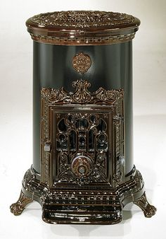 NEW 6 kw Godin 3826 Antique Style Cast Iron Oil Stove  Brown, Blue, Red or Green