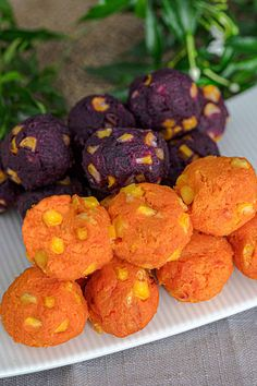 These sweet potato balls are a fantastic energy booster, easy to make, dairy-free, gluten-free, vegan, and vegetarian. As you can easily pick and eat them with your hand, they're also perfect for parties and gatherings. #sweetpotatoballs #sweetpotatosnack #purplesweetpotato #sweetpotatorecipe #thanksgivingrecipe #halloweenrecipe #bakedsweetpotatoes #sweetpotatoside #thanksgivingsidedish #fingerfood #partyfood #gamefood #mantip #thaisnack #ขนมมันทิพย์ #มันทิพย์ Sweet Potato Balls Recipe, Sweet Potato Recipes, Best Dinner Recipes, Fall Recipes, Vegan Recipes, Appetizer Recipes, Snack Recipes, Appetizers, Snacks