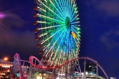 Yokohama Cosmo World is an amusement park in Yokohama, Japan. The main attraction is a giant Ferris Wheel (once the largest in the world) named Cosmo Clock 21, that is… View more » http://hotelsearchin.com/amazing-places/yokohama-cosmo-world-yokohama-japan/  Tags: #amazingplaces, #amusementpark, #cosmoclock21, #ferriswheel, #giantclock, #japan, #rollercoaster, #yokohama, #yokohamacosmoworld