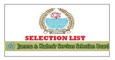 Jammu & Kashmir Services Selection Board has issued the JKSSB Provisional Selection Lists for FMPHW/ANM, Junior Nurse, Junior Librarian & Library Assistant Posts.