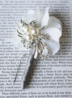 Hydrangea Boutonniere Corsages Pearl Rhinestone by LXdesigns