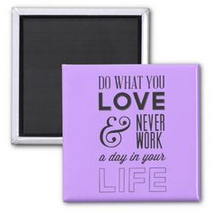 Motivational quote Magnet - customized background color