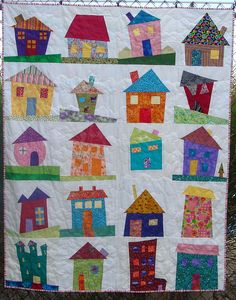 wonky house quilt