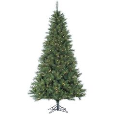 Fraser Hill Farm Plastic/ 9-foot Canyon Pine Christmas Tree with Clear LED Lighting