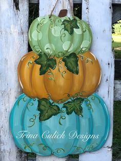Wooden Pumpkins, Painted Pumpkins, Wooden Door Hangers, Wooden Doors, Painting Pumkins, Pumpkin Template, Door Hanger Template, Pumpkin Door Hanger, Autumn Painting