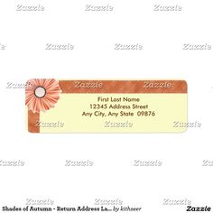 Shop Shades of Autumn - Return Address Labels created by kithseer. Return Address Labels, Letter Writing, Shades, Autumn, Lettering, Return Address Stickers, Fall Season, Fall, Drawing Letters