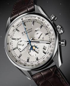 Zenith El Primero 410 – Винтажные часы с легендарным механизмом Sport Watches, Cool Watches, Rolex Watches, Watches For Men, Elegant Watches, Beautiful Watches, Swiss Luxury Watches, Skeleton Watches, Fashion Jewelry Necklaces