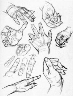 How to Draw Hands - Reference Sheets and Guides to Drawing Hands - How to Draw Step by Step Drawing Tutorials