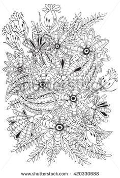 coloring page for adults and older children for your hobby have a good time and