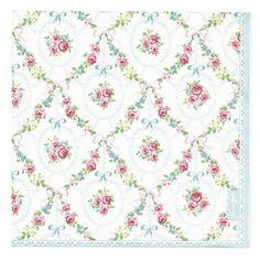 Greengate paper napkins Doris mint