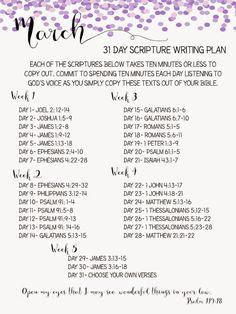 Sweet Blessings: scripture writing plan