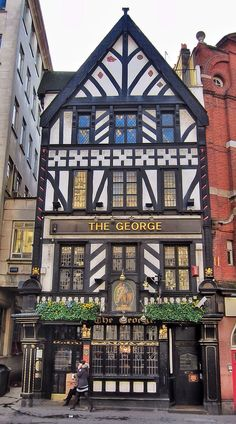 The George on the Strand, London, UK. My husband and I are foodies so an elegant dinner at the Pig and Goose is in order. England And Scotland, England Uk, London England, British Pub, British Isles, London Pubs, Old London, Beautiful Buildings, Beautiful Places