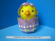 Paper Model – Easter Chick in Egg