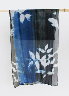 silk chiffon scarf mothers day gift botanical print by 88editions