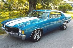 1972 Chevelle SS 454, Beautiful entry level muscle car. Perfect... This is the kind of car I want to have and leave behind for my kids.