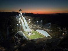 PICTURESQUE - An aerial photo shows a general view of the ski jumping venue of the PyeongChang 2018 Winter Olympic games, on Oct. 31 in Pyeongchang. Nordic Combined, 2018 Winter Olympic Games, Freestyle Skiing, Pyeongchang 2018 Winter Olympics, Olympic Weightlifting, Ski Jumping, Horror House, Alpine Skiing, Cross Country Skiing