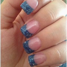Blue sparkly French
