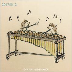Porcupine marimba players