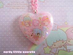Fairy Kei Little Twin Stars Pastel Necklace von NerdyLittleSecrets, $15,00  I love this shop!