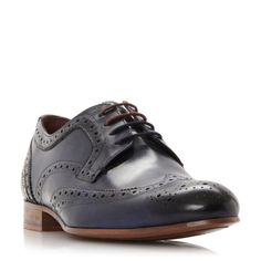 Ted Baker Gryene wingtip lace up brogues, Navy