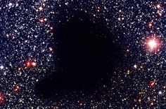 Image Credit: ESO Barnard 68 (named after the American astronomer Edward Emerson Barnard) is a molecular cloud, dark absorption nebula or Bok globule of about half a light-year across and a mass ab… Cosmos, Hole In The Sky, Astronomy Pictures, Dark Energy, Star Formation, Space And Astronomy, Hubble Space, Light Year, Dark Matter