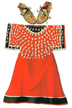 Image detail for -Native American Clothing: Cheyenne  Dress Ornamented with Elk Eye ...