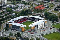 Lerkendal, Rosenborg BK. Capacity 21 850