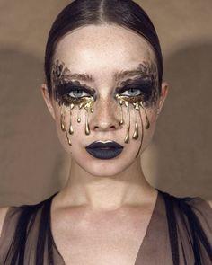 Halloween Makeup 44 + Ideas Not To Be Missed Sfx Makeup, Costume Makeup, Makeup Art, Beauty Makeup, Maquillage Halloween, Halloween Face Makeup, Makeup Inspo, Makeup Inspiration, Makeup Carnaval