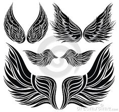 Free Jody Bergsma Coloring Pages | Wings Tattoo Design Stock Photo Image 32453630
