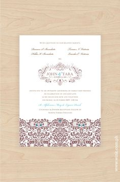 Fresh Start – Musk | Written in Ink Elegant Wedding Invitations, Fresh Start, Swirls, Damask, Ink, Writing, Flowers, Pattern, New Start