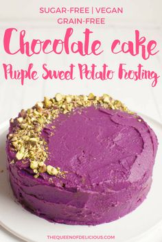 Grain-free Chocolate Cake | Purple Sweet Potato | Sugar-free baking | Vegan | Gluten-free