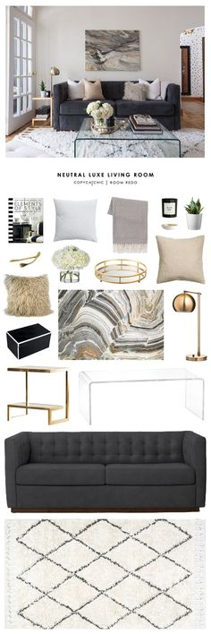 Copy Cat Chic Room Redo & Neutral Luxe Living Room More The post Copy Cat Chic Room Redo appeared first on Dekoration. Living Room Redo, Living Room Colors, Living Room Modern, Rugs In Living Room, Living Room Interior, Apartment Living, Living Room Designs, Apartment Ideas, French Apartment