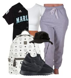 """Untitled #345"" by queen-jailee ❤ liked on Polyvore featuring MCM, Rothco and NIKE"