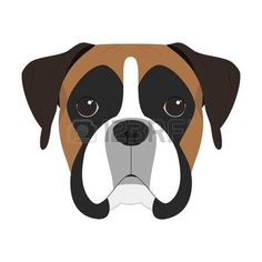 Image result for boxer dog clipart