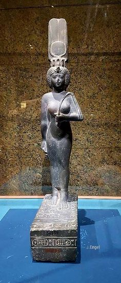 Ankhnesneferibre was an ancient Egyptian princess and priestess during the 26th Dynasty, daughter of pharaoh Psamtik II and his queen Takhuit. She held the charges of Divine Adoratrice of Amun and later God's Wife of Amun for a very long time, overall between 595 and 525 BCE, thus during the reigns of Psamtik II, Apries, Amasis II and Psamtik III and until the Achamenid conquest of Egypt.[2] Nubian Museum Aswan.
