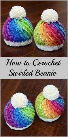 How to Crochet Staircase Stitch Slouchy Hat – Full Tutorial. Bag Crochet, Crochet Gratis, Crochet Beanie Pattern, Crochet Cap, Crochet Baby Hats, Cute Crochet, Crochet For Kids, Crochet Clothes, Knitted Hats