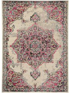 Teppich Casa Beige/Pink
