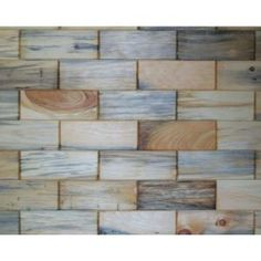 Rustix Woodbrix 3 in. x 8 in. Unfinished Antique Blend North Eastern White Pine Wooden Wall Tile-#ANT-31622 at The Home Depot  $69.97.per case of 96 tiles that covers 16 square feet. economical and easy to install. a beautiful way to enhance any room decor. Each case varies and no 2 tiles are alike