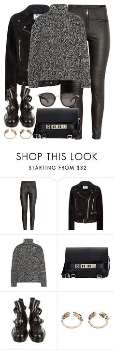 """""""Untitled #3171"""" by elenaday on Polyvore featuring H&M, Acne Studios, Yves Saint Laurent, Proenza Schouler, Balenciaga and Moncler"""