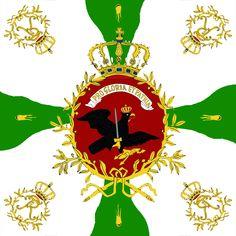 """Bandiera nazionale del 51 rgt. fanteria sassone """"von Wylich""""  al servizio della Prussia"""