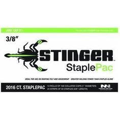 National Nail 136420 Stinger Cap And Staple by National Nail. $30.35. 2016 count caps and staples pack. Includes 12 rolls of 168 collated 1'' plastic caps and 24 strips of 84 each 3/8'' staples. For use in the model