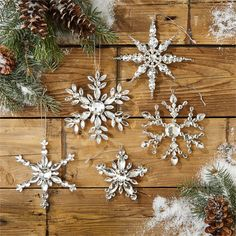 Two's Company Set Of 5 Snowflake Ornament – Modish Store