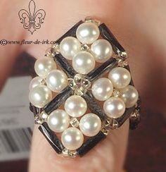 Original pearl ring R12 by Fleur-de-Irk.deviantart.com on @deviantART